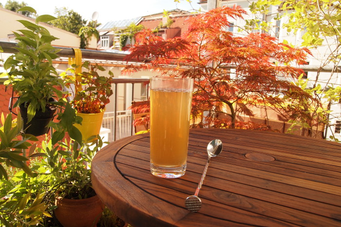 selbstgemachtes ginger ale sulle balcone = Sommer!