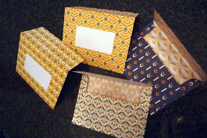 Briefumschläge zum selber ausschneiden und zusammenkleben! Danke Frankie Magazin!