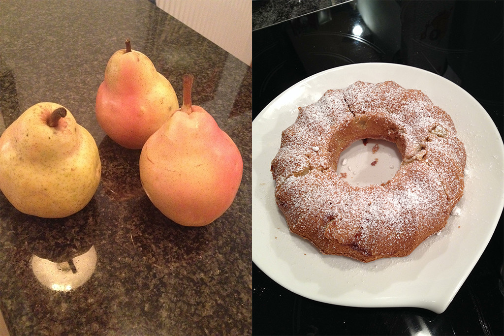 Kuchen. Die perfekte Birnenanwendung.